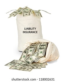 Bag with liability insurance
