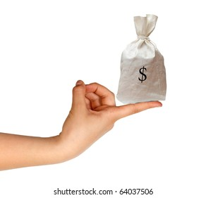 Bag with money