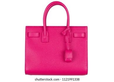 Bag on white background. Women's Italian branded designer bag isolated