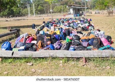 bag pack boy scout camp in sisaket,THAILAND 2017