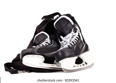 Bag for pair of hockey skates isolated on white background