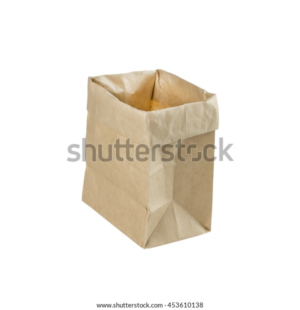 bag paper isolated on white background.