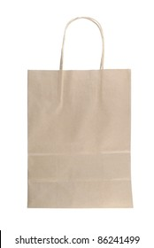 Bag recycle paper brown color from supermarket