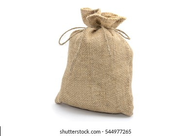Bag from a sacking isolated on a white background