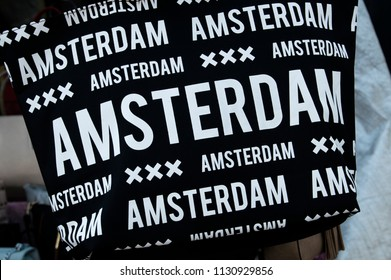 Bag With The Text AMSTERDAM At Amsterdam The Netherlands 2018