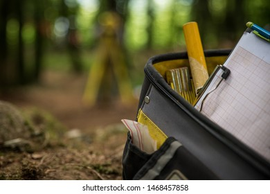 A bag with tools on an archaeological site