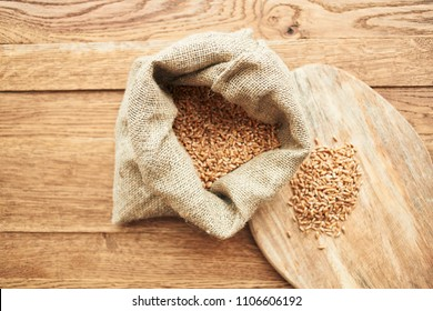 A bag of wheat and a board