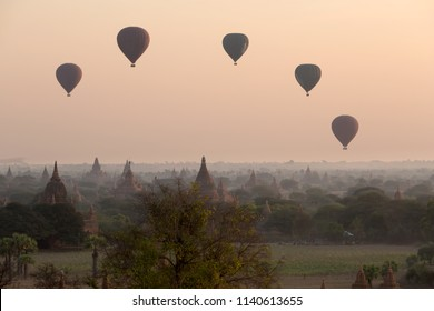 Bagan historic site during the sunrise, Myanmar