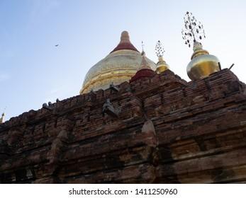 Bagan, Myanmar - circa December 2018: ancient temple at Bagan