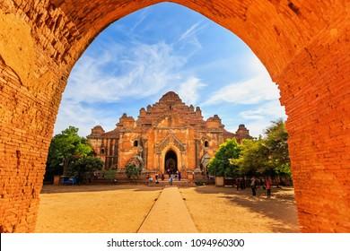 BAGAN, MYANMAR - DECEMBER 21, 2014 : Dhammayangyi temple, the popular ancient temple, the popular tourist attraction at Bagan, Myanmar.