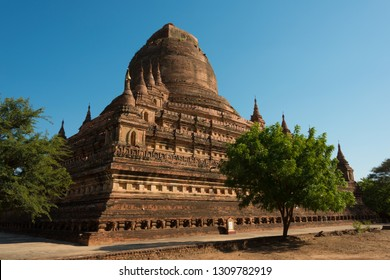 Bagan, Myanmar - Jan 22 2019- Sitanagyi Hpaya Temple at Bagan Archaeological Area and Monuments. a famous Buddhist ruins in Bagan, Mandalay Region, Myanmar.