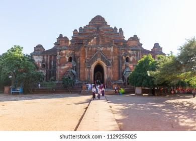 BAGAN, MYANMAR - NOVEMBER 26, 2014: Dhammayangyi temple, Bagan, in Myanmar