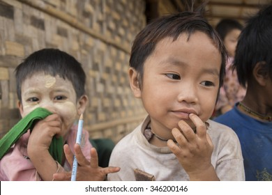 Bagan, Myanmar - Sep.08, 2015: Child in Burma