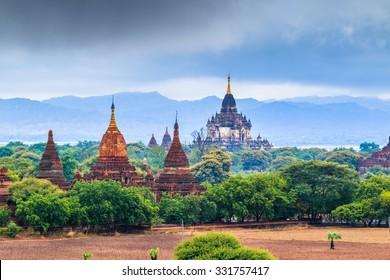 Bagan - old Pagoda in Bagan city at Shan State myanmar