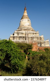 Bagan,Shwesandaw Paya Temple, the most important temple in Bagan, Myanmar
