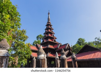 Bagaya Kyaung in Inwa, near Mandalay, in Myanmar