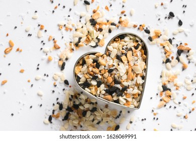 Bagel Seasoning in a Heart Shape