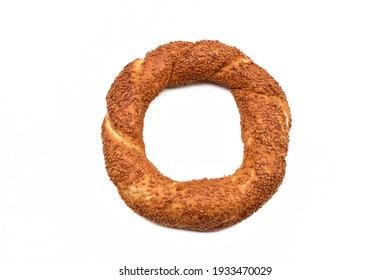 Bagel with sesame isolated on white background