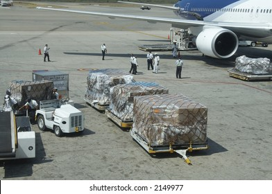 Baggage in airport