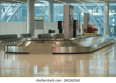 Baggage claim area in airport