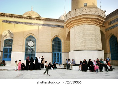 Baghdad, Iraq - August 29, 2005 : Shrine of Sheikh Abdul Qadir Jilani in Baghdad, Iraq