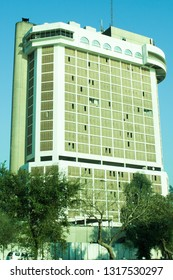 Baghdad, Iraq – January 20, 2014: photo for Sheraton Ishtar Hotel in Baghdad city in Iraq, is the one of the biggest hotel in Baghdad, its locating in alkaradaa street.