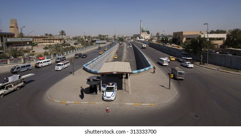 Baghdad, Iraq March, 14 2015: Picture of street and tunnel area Al Alawi In the city center of Baghdad,Iraq