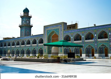 Baghdad, Iraq -  May 19, 2014: shrine Musa alKadhim and his grandson Mohammed Jawad,in Baghdad, Iraq