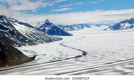 Bagley Icefield, Wrangell St Elias National Park, Alaska, America