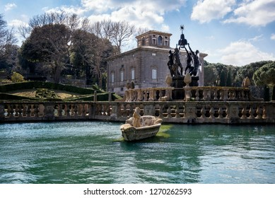 Bagnaia: Villa Lante at Bagnaia is a Mannerist garden of surprise, near Viterbo, Italy.