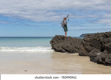 Bagpipe Player at Sisters Beach