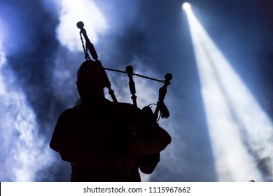 Bagpipe Silhouette concert