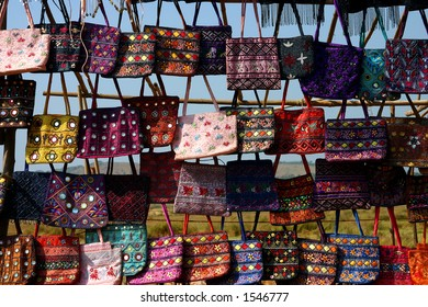 Bags in the market, Goa India.