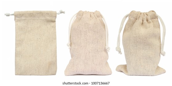 Bags sacking isolated on white background.