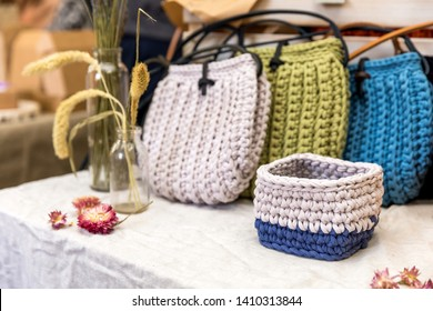 Bags and wicker baskets handmade