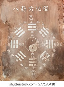 Bagua - eight trigrams used in Taoist cosmology to represent the fundamental principles of reality.