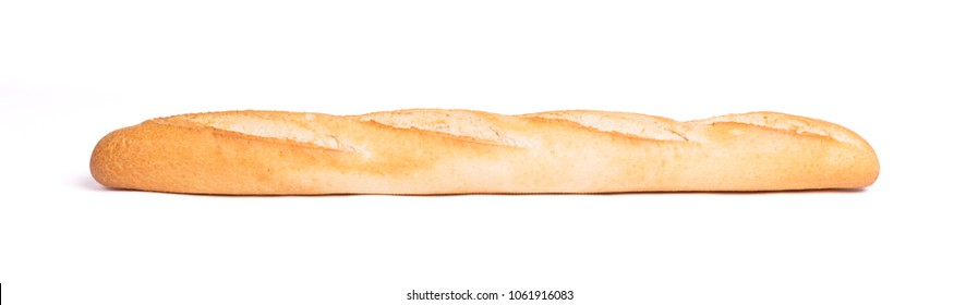 Baguette de pain - French bread isolated on white