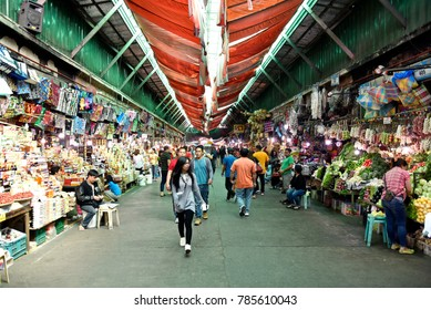 BAGUIO CITY, PHILIPPINES, DECEMBER 14, 2017, Baguio City Public Market, main local market, Philippines