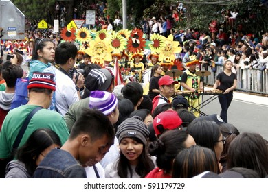 BAGUIO CITY, PHILIPPINES FEB. 26: Grand Flower Float Parade in Panagbenga Festival on Feb. 26, 2017 in Baguio City Philippines. Celebrating the bloom months with street parade.