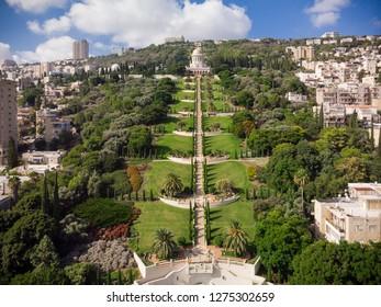 The Baha'i gardens in all their glory