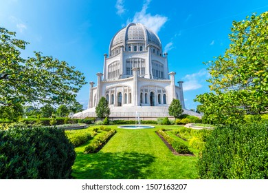 The Baha'i House of Worship located in Wilmette, north of Chicago, is one of eight temples dedicated to the Bahai faith in the world.