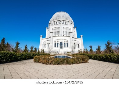 The Bahai house of worship in Wilmette, Illinois.One of 10 dedicated temples of the Bahai faith, it is the oldest surviving bahai house of worship in the world.
