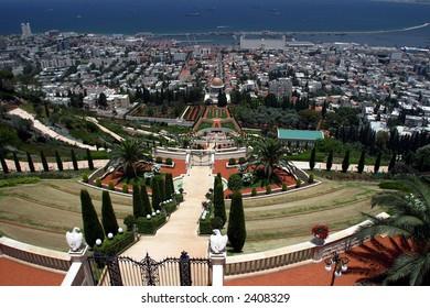 Bahai temple & gardens, Haifa, Israel