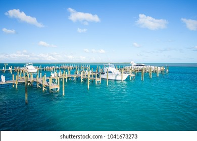 BAHAMAS. BIMINI ISLAND. MARCH 2018. Big Game pier on Bimini Island