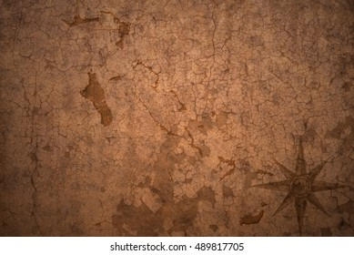 bahamas map on a old vintage crack paper background