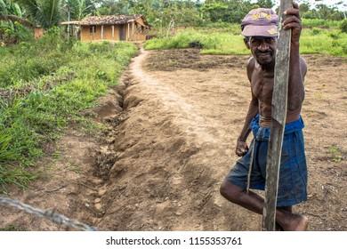 Bahia, Brazil, August 24, 2013. portrait of a farmer in the backlands of Bahia