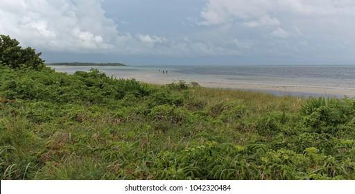 Bahia Honda State Park, Florida, USA - July 21, 2016: Calusa Beach, Florida Keys, tropical coast with paradise beaches
