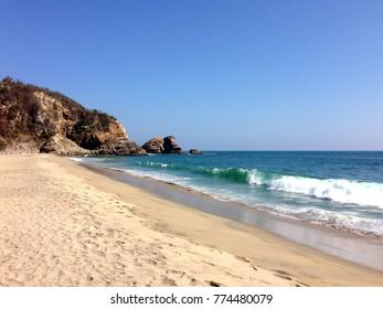 Bahias de Huatulco blue sea Beach