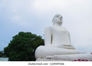 Bahirawakanda or Bahirawakanda Temple. Buddha Statue in Kandy, Sri Lanka. Bahirawakanda is a Biggest Samadhi Buddha Statue On The Top Of The Bahirawakanda Mountain in Kandy, Sri Lanka