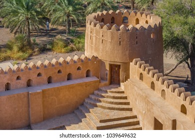 BAHLA, OMAN - NOVEMBER 28, 2017: detail of Jabrin Castle, in Bahla, Oman